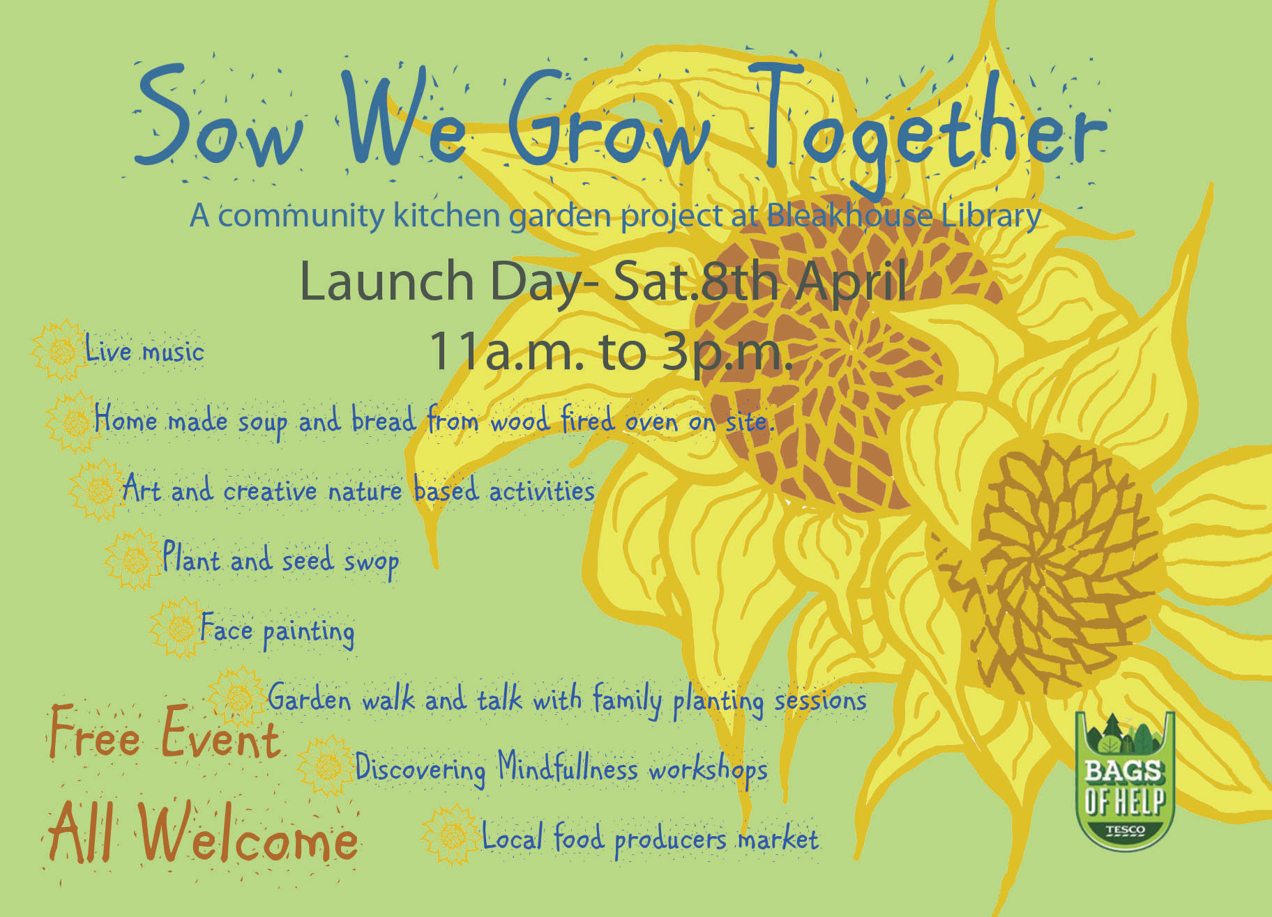 Sow We Grow Together Launch Event at Bleakhouse Library on 8th April 2017 11 - 3